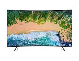 Prohnutá 4K televize Samsung